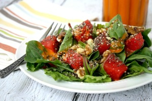 Watermelon-Salad-with-Clean-Eating-Watermelon-Vinaigrette-1
